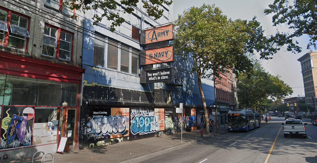 Former Army & Navy store amongst two new Vancouver homeless shelter sites