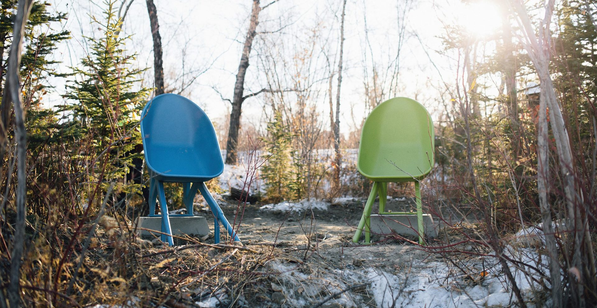 Experience functional art at this revitalized Calgary island park