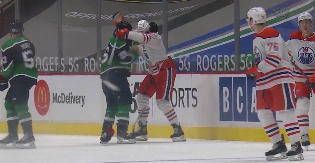 NHL fines Canucks winger Roussel for trying to fight Puljujarvi