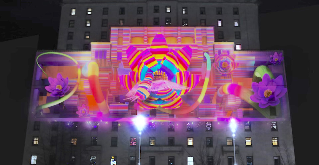 Nightly projection mapping to brightly illuminate Fairmont Hotel Vancouver