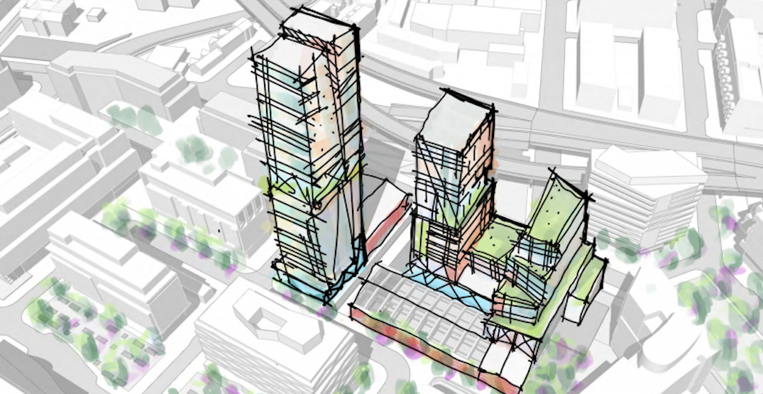 Alternative Foundry site development designs that would save the historic buildings