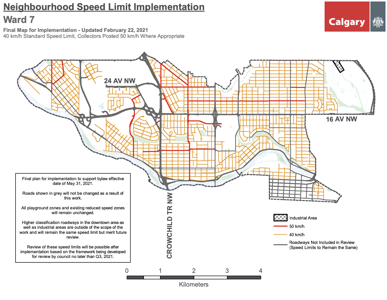 Calgary speed limit