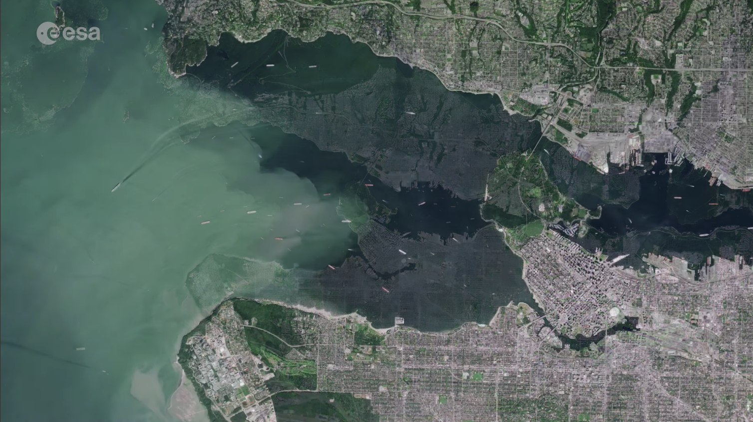 Vancouver from space
