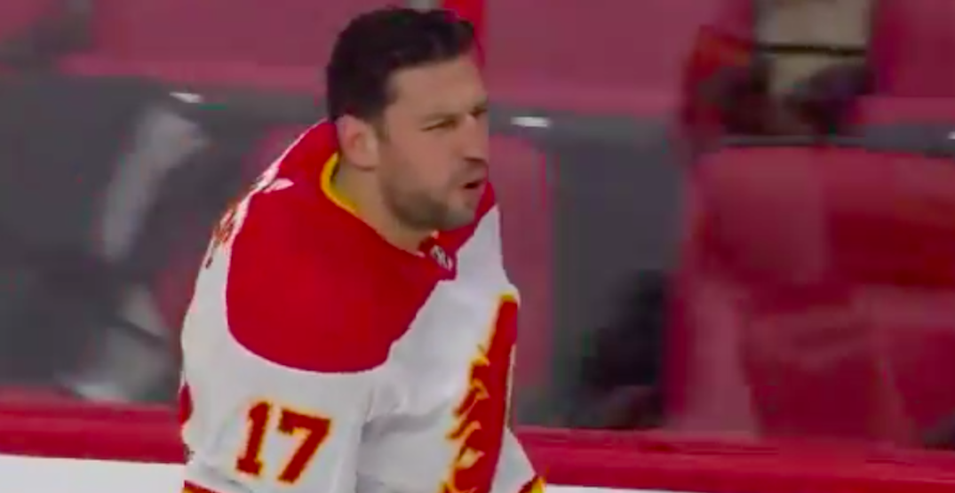 Bizarre warmup sees Flames players continually trip over each other (VIDEO)