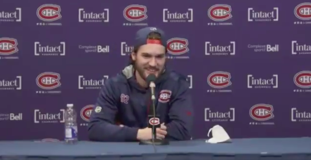 Canadiens press conference concludes with relatable blooper (VIDEO)
