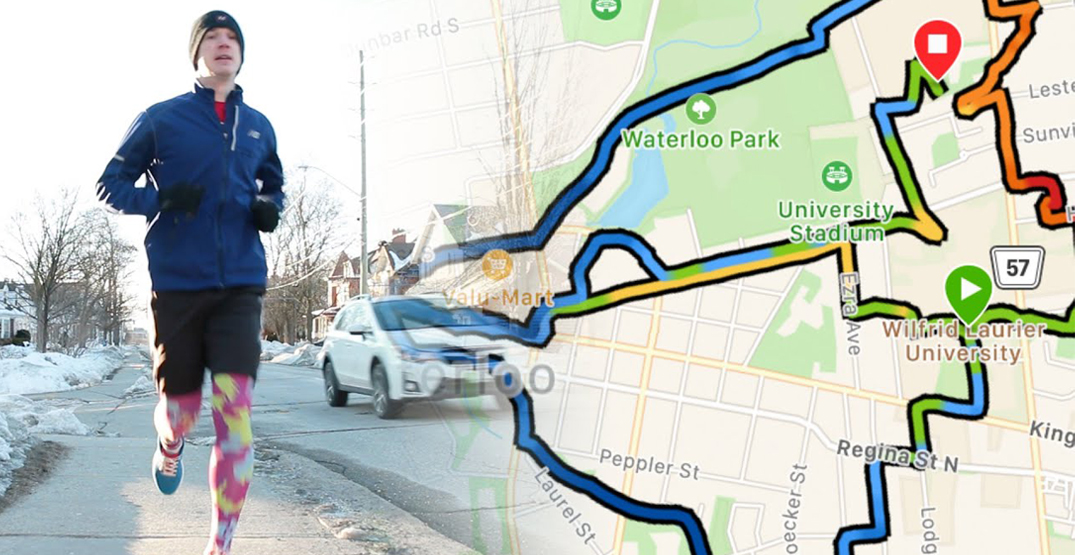 "Runner maps out Toronto Blue Jays logo with ""GPS art"""