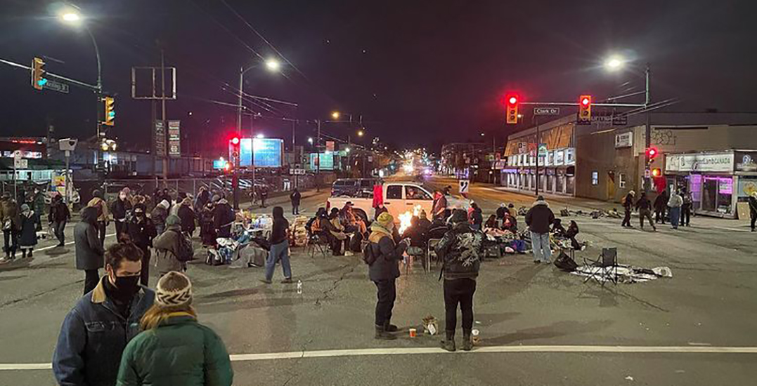 Four people arrested after protest blocks Vancouver intersection for over 24 hours