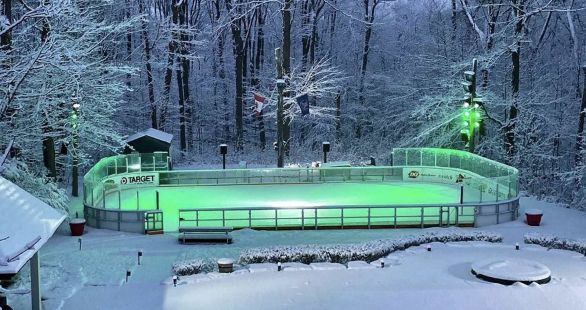 This amazing backyard hockey rink is every Canadian's winter dream (VIDEO)