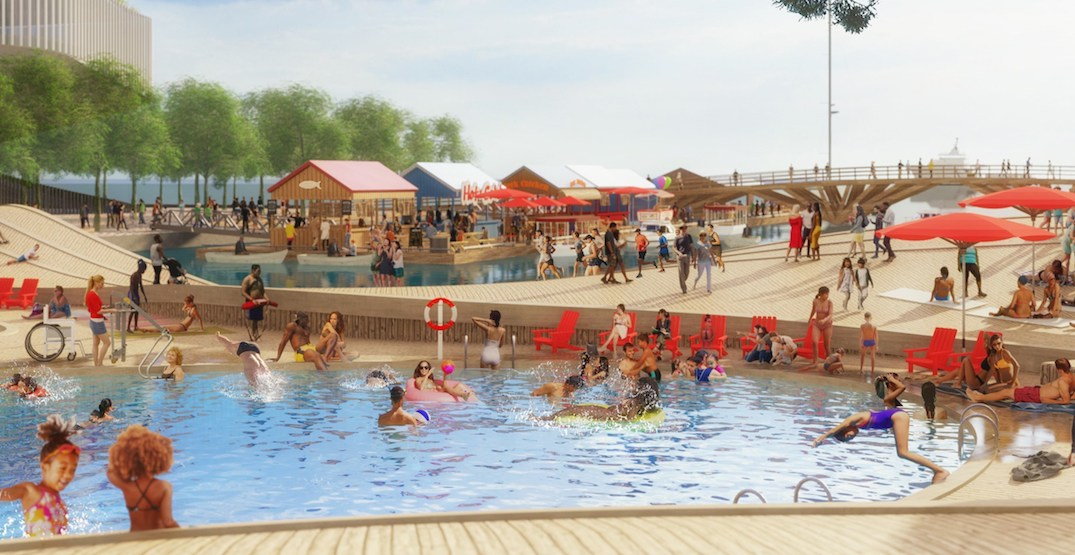 Toronto waterfront may soon have a swimming pool and floating restaurant (PHOTOS)