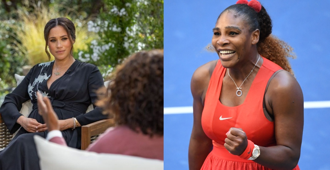 """Serena Williams backs Meghan Markle, calls out media """"sexism and racism"""""""