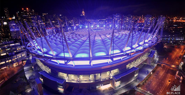 Vancouver landmarks light up purple for International Women's Day