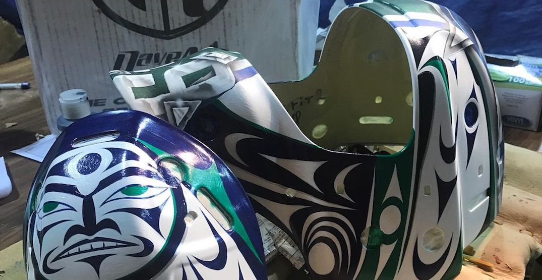 Holtby has another new Indigenous-designed Canucks goalie mask (PHOTOS)
