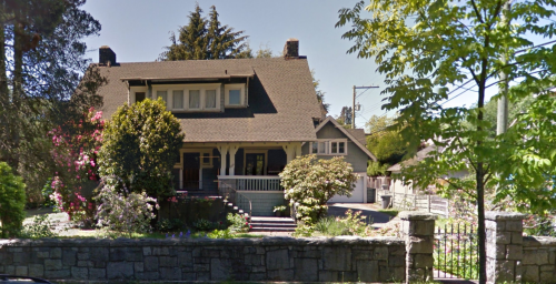 Janet Smith was murdered in the basement of this Shaughnessy House in 1924. Eve Lazarus photo, 2007