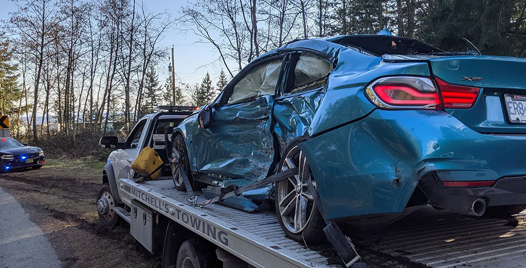Three in hospital, over $50K in damages after stunt driving attempt in West Van