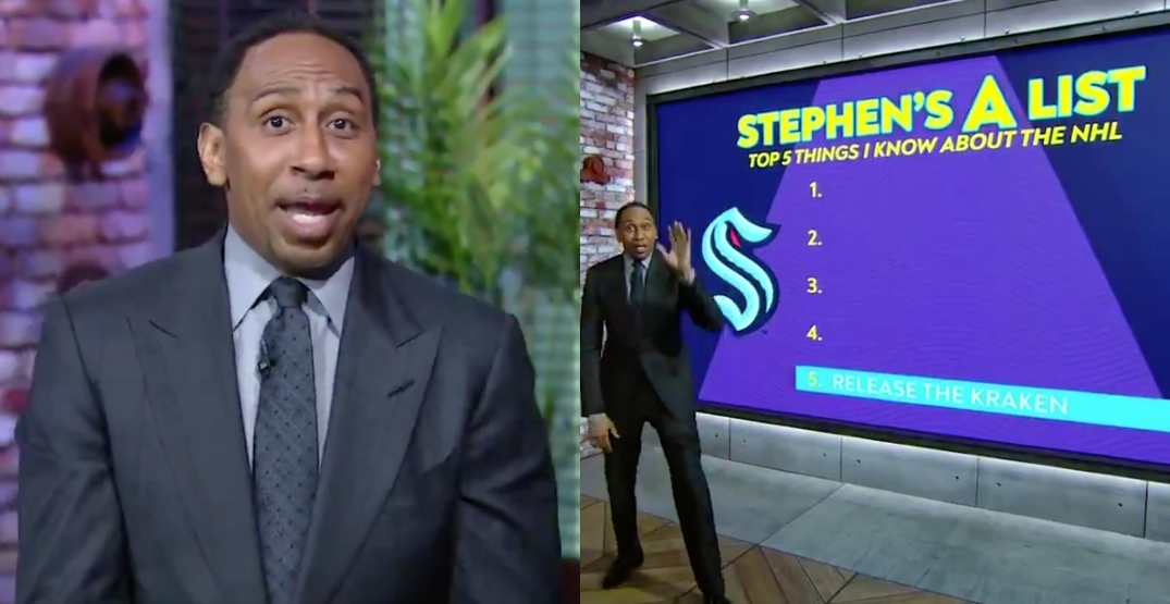 ESPN's Stephen A. Smith is REALLY excited about the Seattle Kraken
