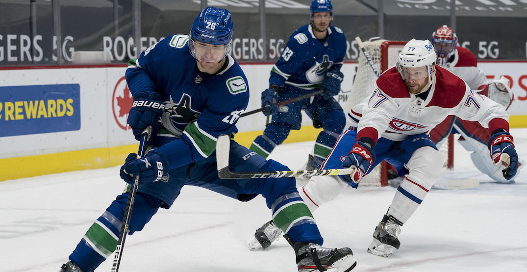 Three more Canucks forwards miss practice with apparent injuries