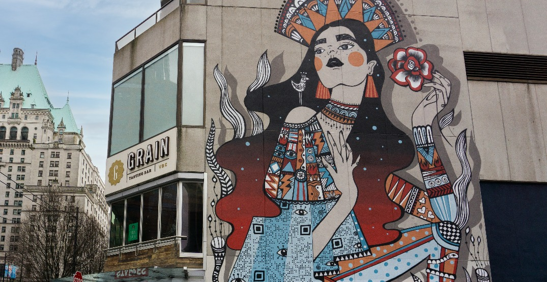 New 42-foot mural raising awareness about gender-based violence unveiled in Vancouver