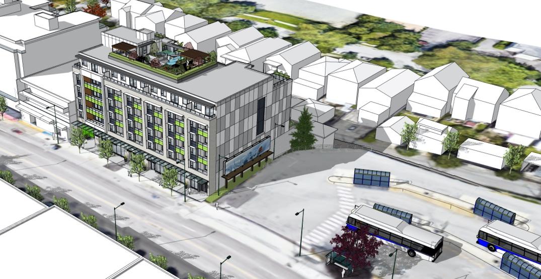 56 rental homes proposed next to Kootenay bus loop in East Vancouver