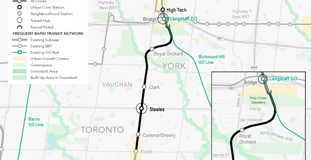 New plans for Yonge North Subway Extension have fewer stations, above-ground track
