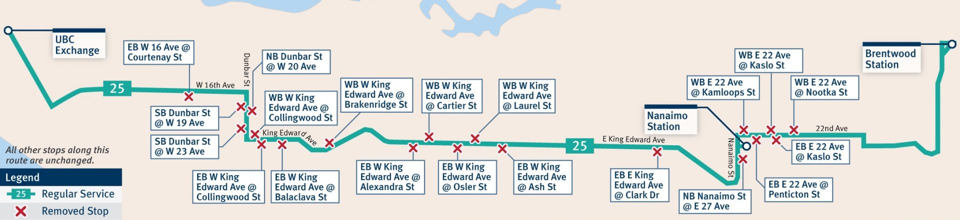 route 25 bus stop balancing translink