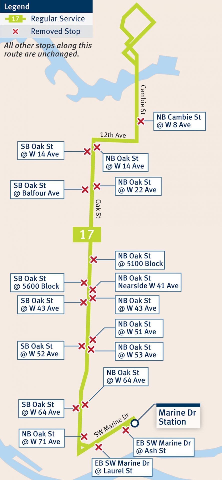 route 17 bus stop balancing translink 1