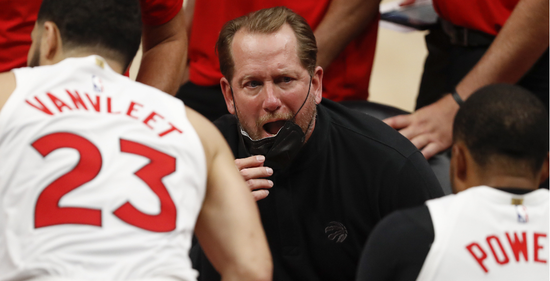 NBA fines Raptors coach Nurse for throwing mask, swearing at officials