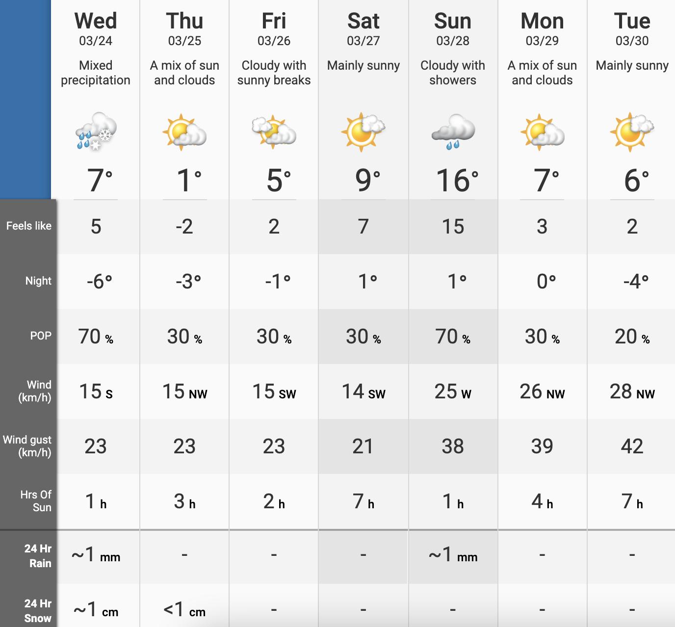 Edmonton's weather