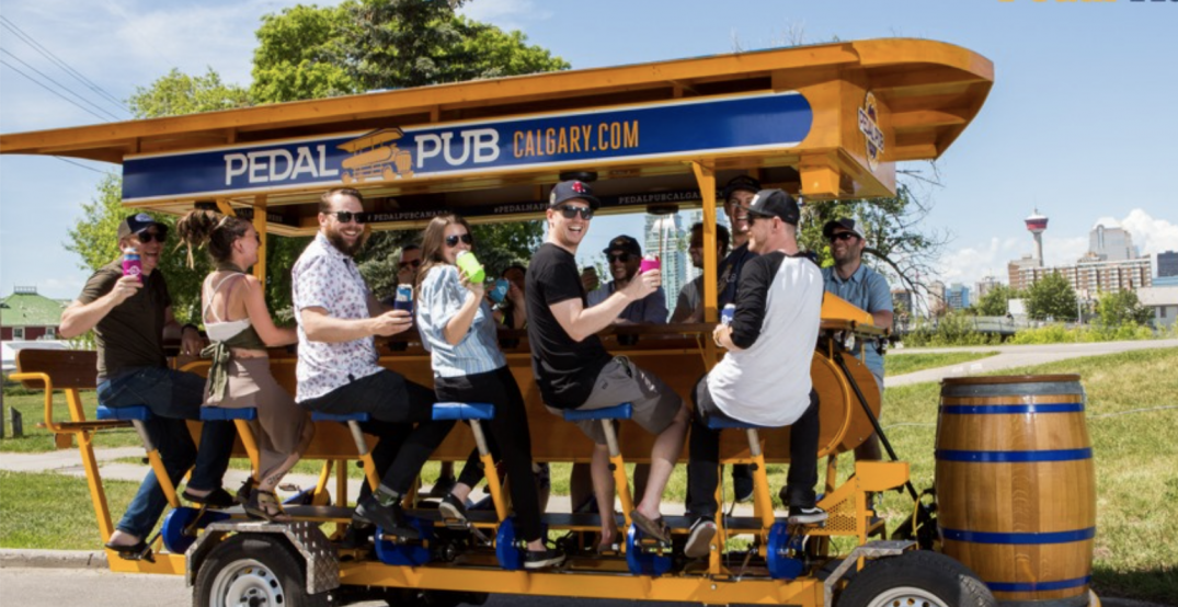 You can bike through Calgary's streets on a pedal-powered pub this spring