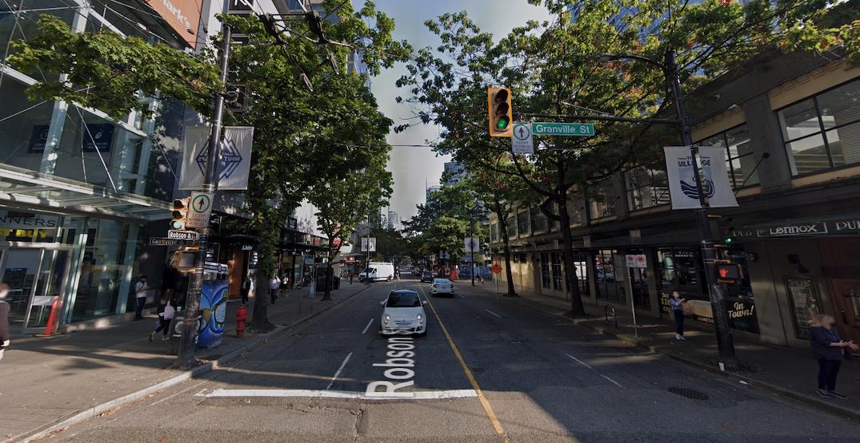Major road construction on six blocks of Robson Street begins