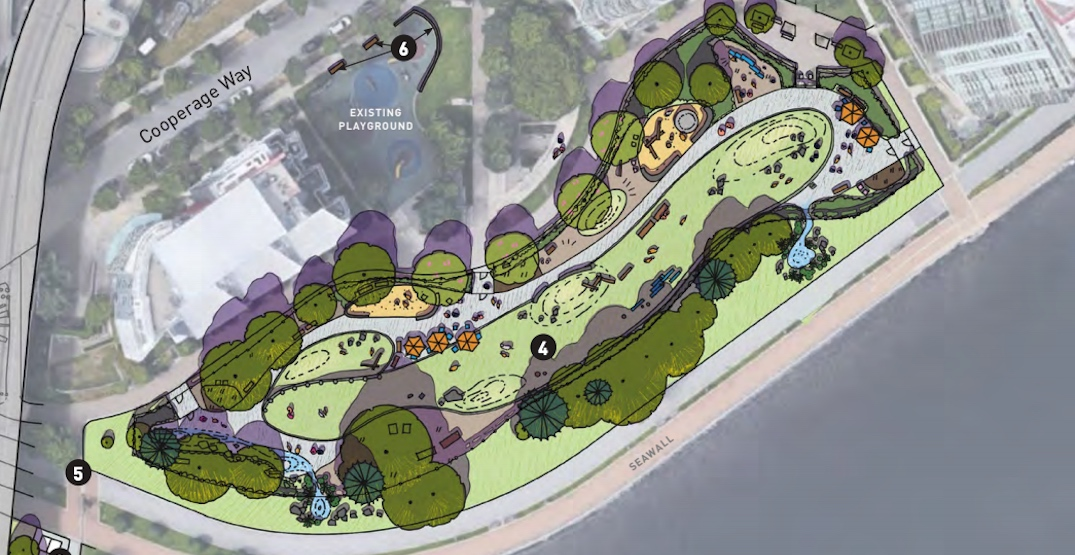 A themed park for dogs is planned for Coopers' Park in downtown Vancouver