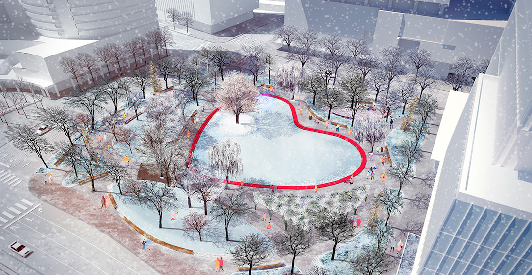Toronto's new Love Park will have a heart-shaped pond (RENDERINGS)