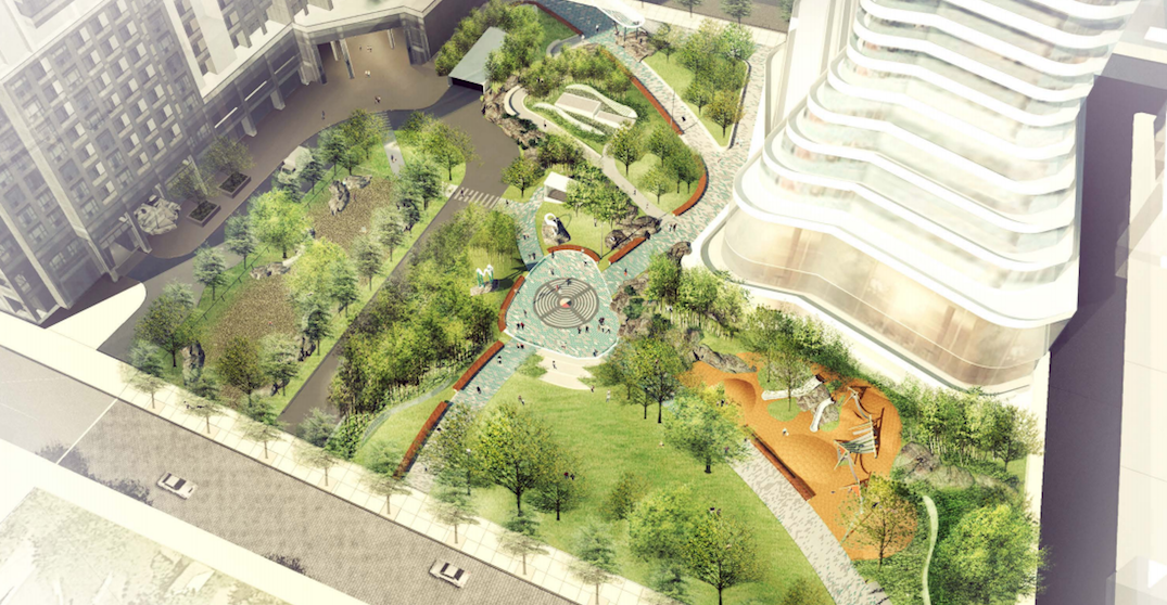 Downtown Toronto park honouring Indigenous leader to open this summer (RENDERINGS)