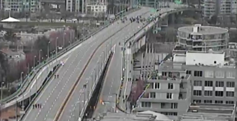 "Climate protestors block Cambie Bridge, cause ""major congestion"""