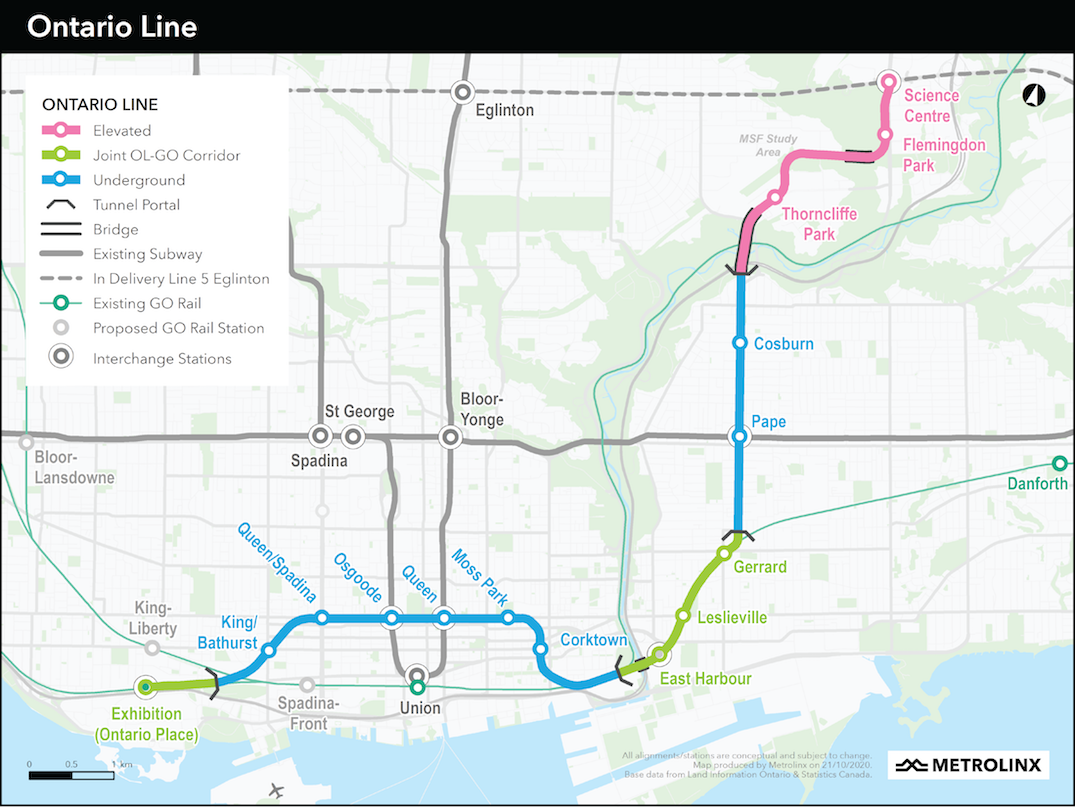 ontario line changes