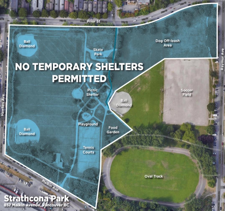 strathcona park encampment april 8 2021