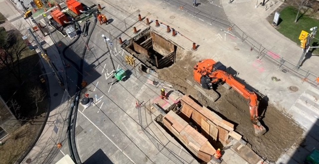 Large sinkhole closing part of College Street for up to two months