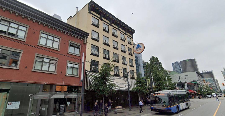 1025 granville street hostelling international vancouver central hostel