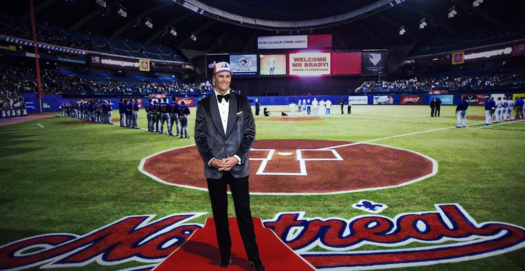 Tom Brady jokes that he's bringing the Expos back to Montreal