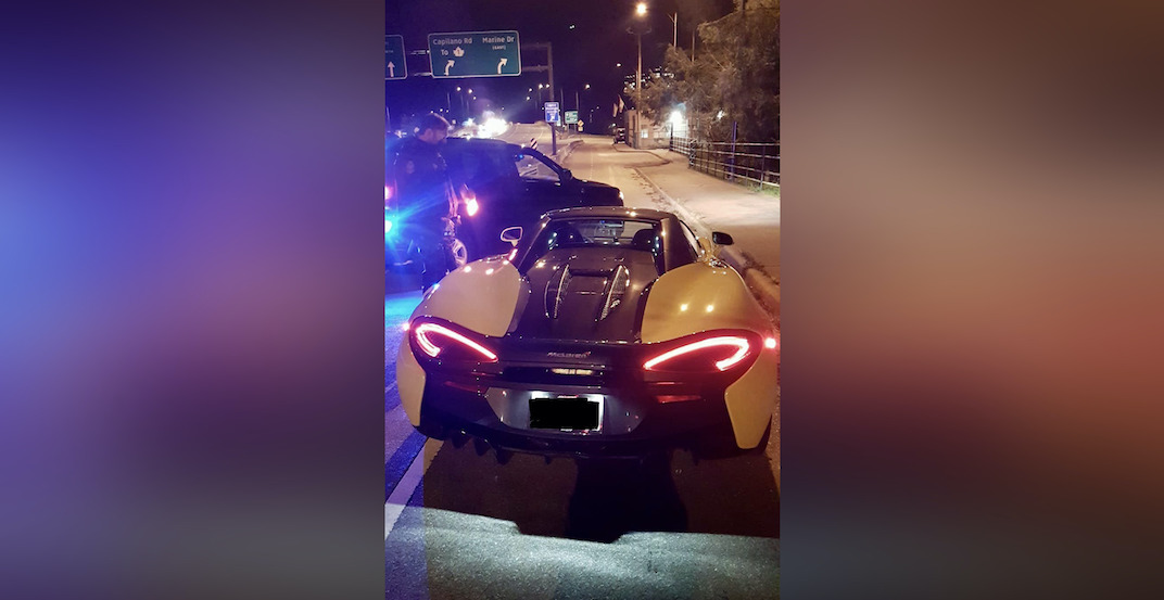 Luxury car impounded after driver clocked 160km/hr on Lions Gate Bridge