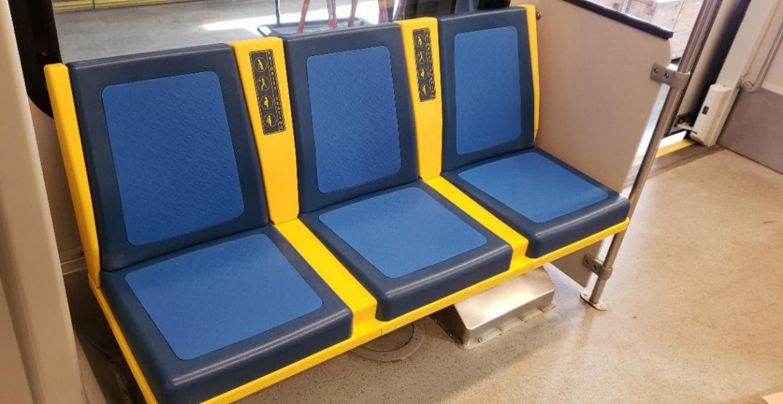 Edmonton introduces new germ-killing LRT seats for transit riders