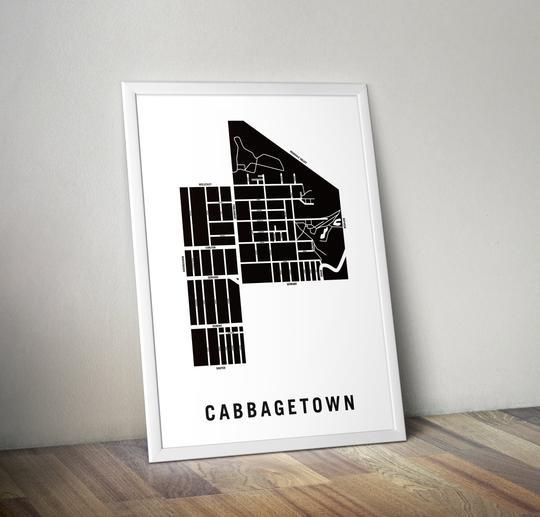 toronto neighbourhood map art