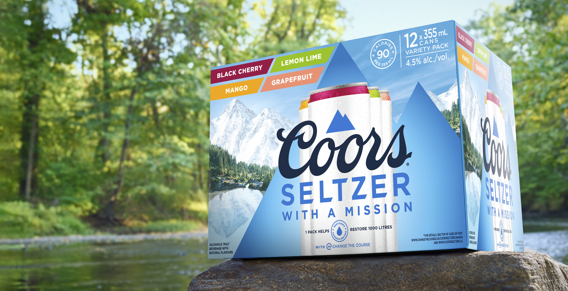 Coors Seltzer calls on Canadians to skip the shower for Earth Day