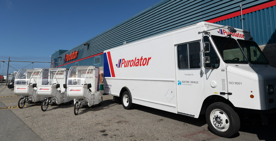 Purolator brings fully electric curbside delivery vehicles to Vancouver