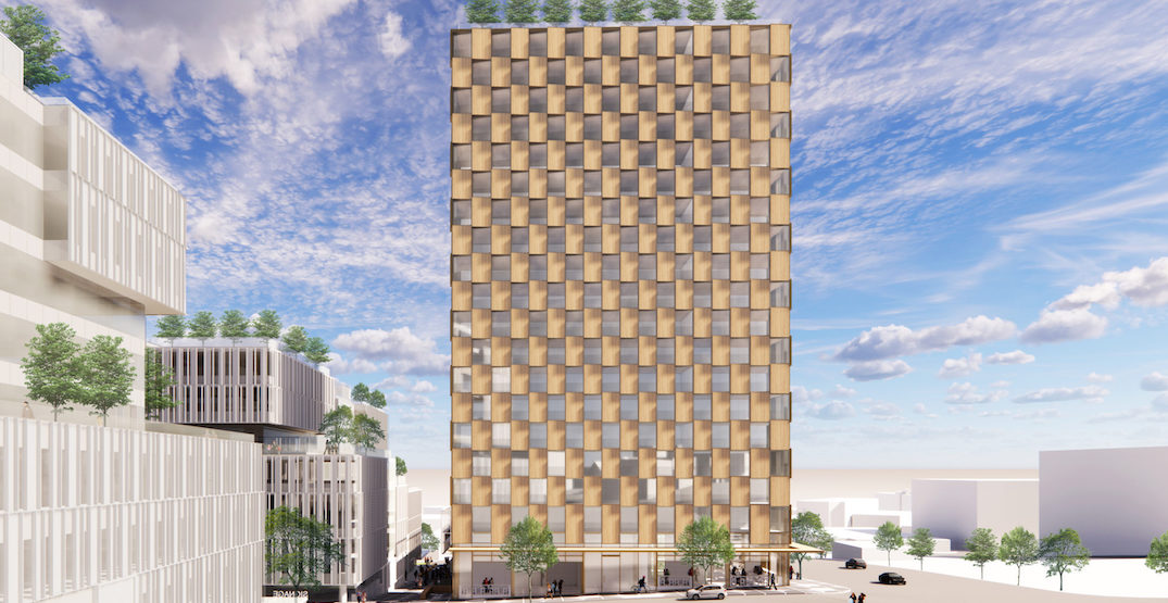21-storey wooden tower with 216 rental homes proposed for Vancouver (RENDERINGS)