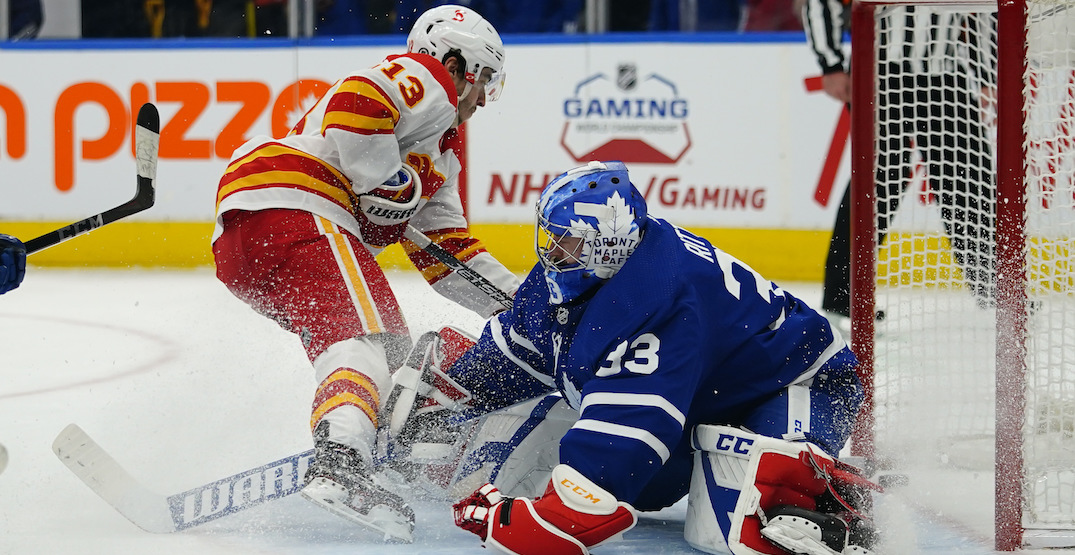 Plenty of hilariously-awkward moments for ex-Flames goalie Rittich in Leafs debut