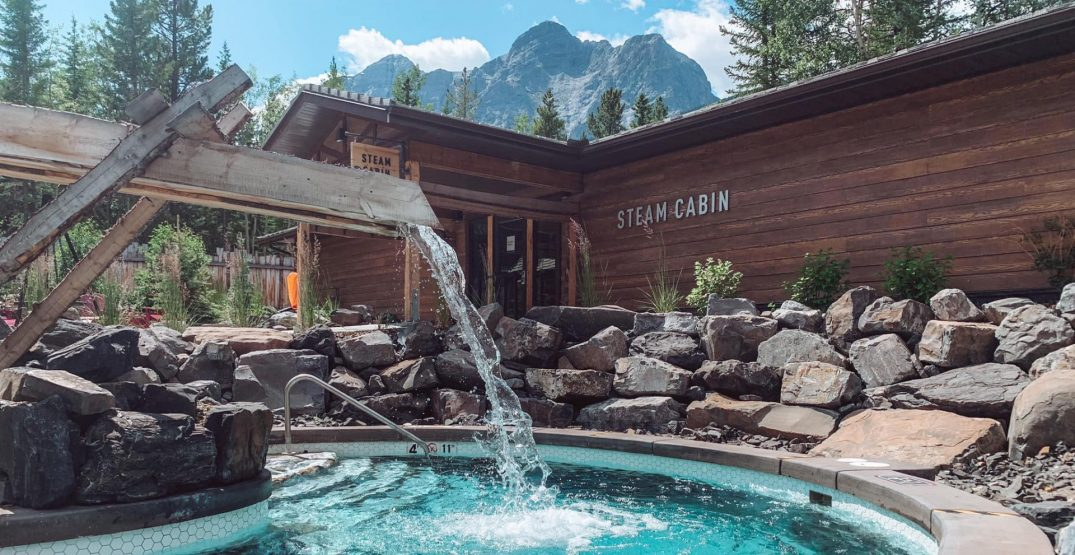 You can book this entire spa in Kananaskis for your household right now