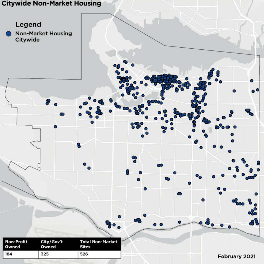 vancouver non-market housing map