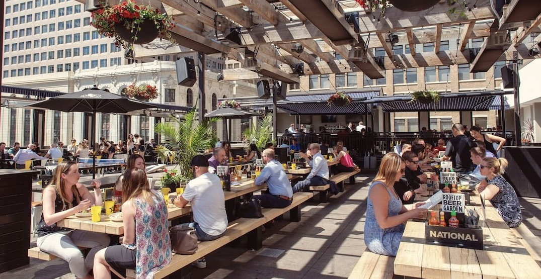 National on 8th has officially opened its rooftop patio in Calgary