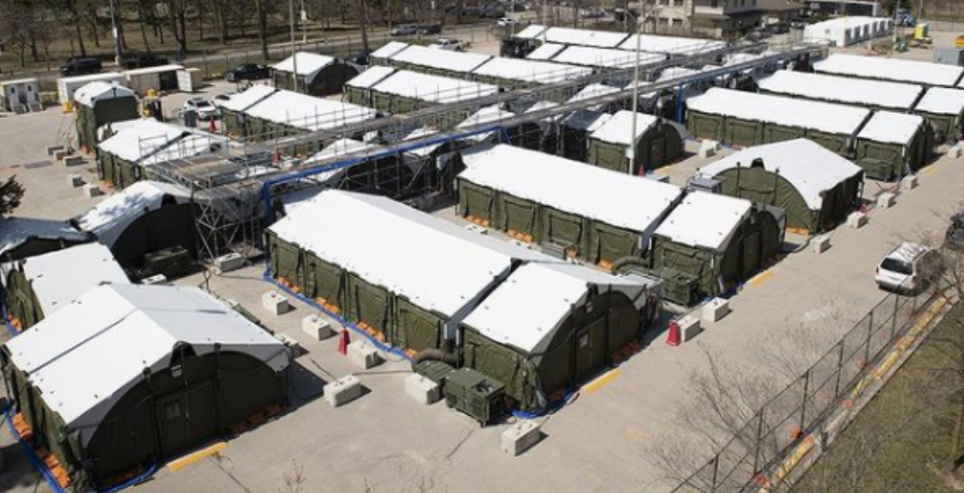 Sunnybrook nearing completion of COVID-19 field hospital in parking lot