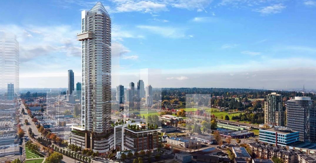 Surrey's new tallest tower approved by City Council (RENDERINGS)